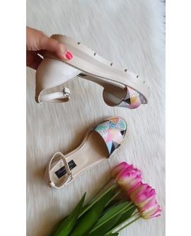 Sandale Cu Platforma Piele Imprimeu Sarpe V8   - Orice Culoare