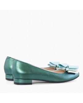 Balerini piele verde sidef Briana - orice culoare