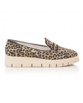 Pantofi Piele Ponei Animal Print Talpa Joasa E4  - orice culoare