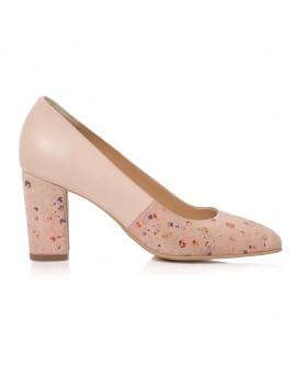Pantofi Dama Piele Nude Roze Comod Amber T44 - Orice Culoare
