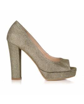 Pantofi Auriu Ersa  GITTER L20 - pe stoc