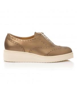 Pantofi Piele Bronz Talpa Joasa E5  - orice culoare