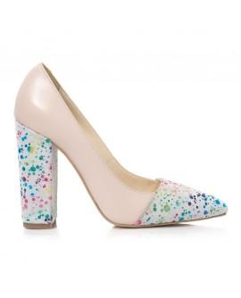 Pantofi Piele Nude/Color Raisa L25 - orice culoare