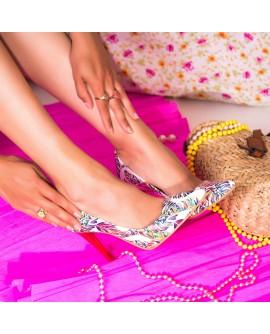 Pantofi Stiletto Very Chic Piele Frunze Color  - orice culoare