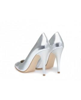 Pantofi Stiletto V12  Piele Argintiu - orice culoare