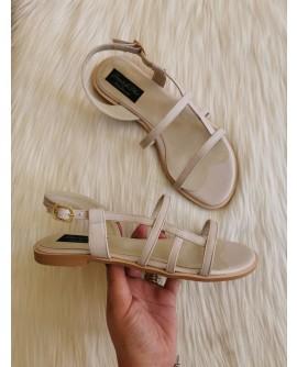 Sandale piele naturala Rimi Nude-pe stoc
