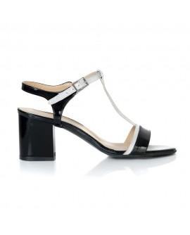 Sandale Piele Negru Comod Zeno T12  - orice culoare