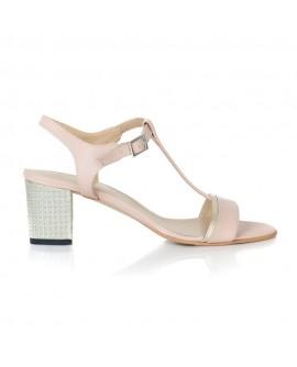 Sandale Piele Nude Comod Zeno T12  - pe stoc