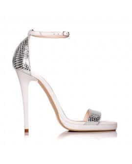 Sandale dama piele argintiu Marlyn - Orice culoare