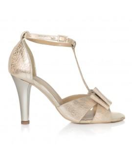 Sandale Dama Piele Auriu Fundita T4 - orice culoare