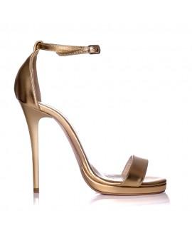 Sandale Dama Piele Auriu Marlyn - Orice Culoare