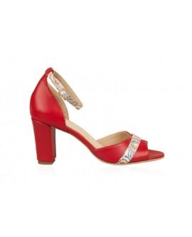 Sandale Dama Piele Rosu N56 - orice culoare