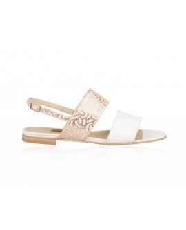 Sandale Dama Piele Imprimeu Auriu Stefana N14 - orice culoare