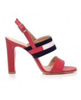 Sandale Piele Rosu/Bleumarin Alice T11- pe stoc