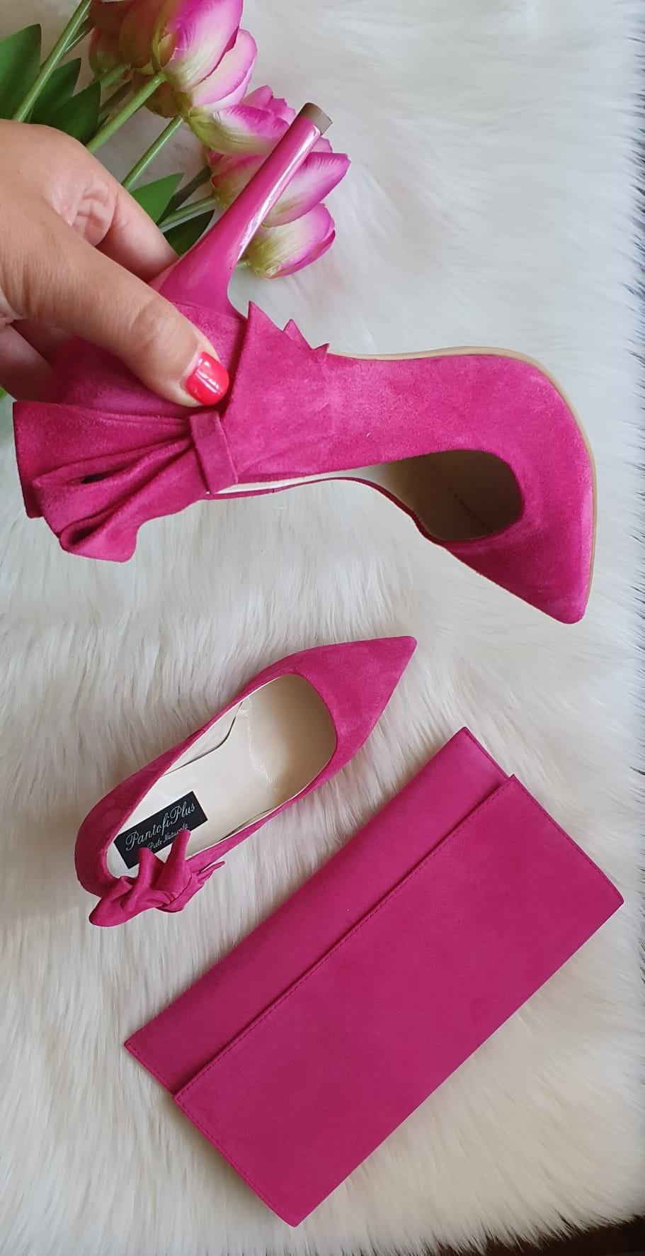 Pantofi Stileto Piele Albastru Electric Fundita C43- orice culoare