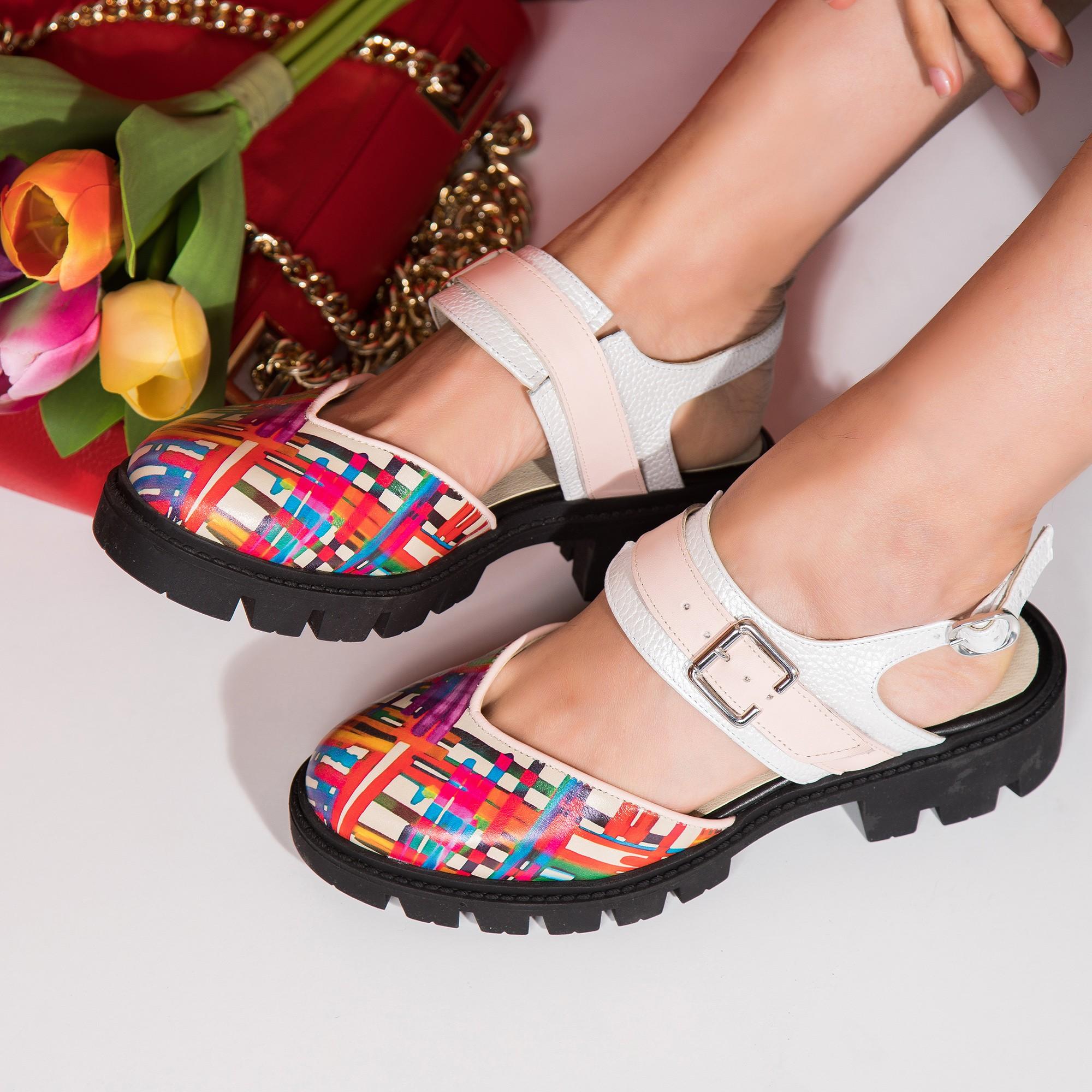 Pantofi Dama Casual Decupat Piele Color V21  - orice culoare