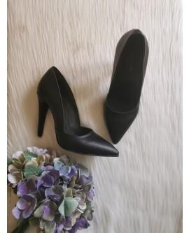 Pantofi Stiletto I1 piele negra box - pe stoc