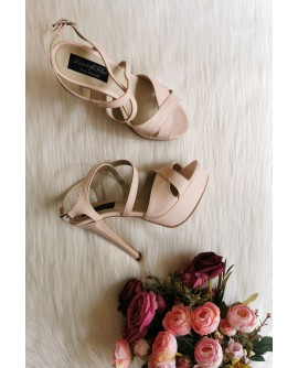 Sandale Modern 2  box nude  piele naturala - pe stoc