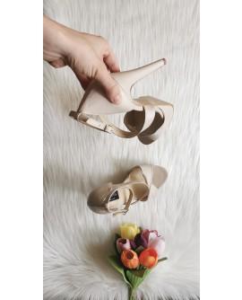 Sandale piele naturala nude  Megan -  pe stoc