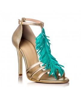 Sandale Dama Piele Auriu Samantha F17 - orice culoare