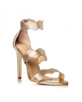 Sandale Dama Piele Auriu Onduleu F26 -pe stoc