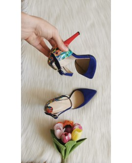 Pantofi Stiletto Albastru Clara C14 - pe stoc