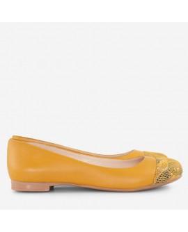 Balerini piele galben varf color D8 - orice culoare