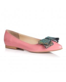 Balerini Piele Roz Pal  Funda Glitter L4 - orice culoare