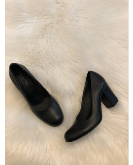 Pantofi Piele Confort I4 Negru  - pe stoc