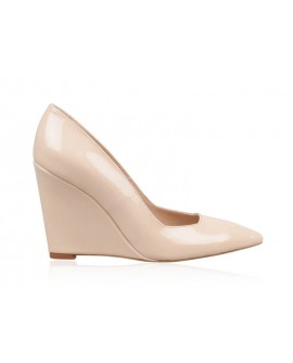 Pantofi Piele cu Platforma Nude N20 - orice culoare