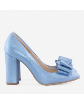 Pantofi Piele Bleu Cu Fundita Boema D55 - orice culoare