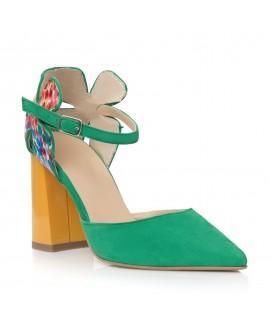 Pantofi Piele Verde/Multicolor Lady C40- orice culoare