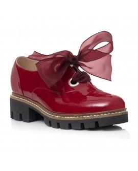 Pantofi Piele Lacuita Bordo Funda Alma C60  - orice culoare