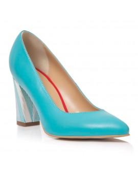 Pantofi Dama Piele Turcoaz Carla T30 - Orice Culoare