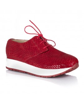 Pantofi Dama Sport Piele Rosu Snake V24 - orice culoare