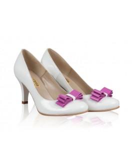 Pantofi mireasa N3 cu fundita - orice culoare