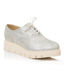 Pantofi Piele Snake Argintiu Talpa Joasa E5  - orice culoare