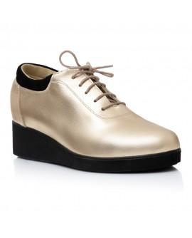 Pantofi Piele Auriu Oxford Ariel V16   - orice culoare