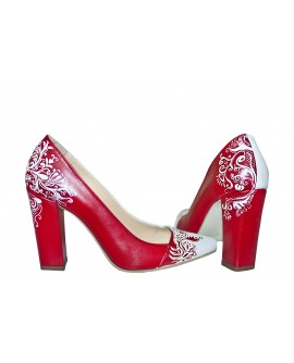 Pantofi Pictati Manual Red Stylish Stiletto - orice culoare