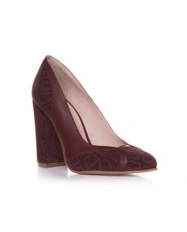 Pantofi Piele Bordo Clarisa T39 - orice culoare