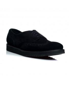 Pantofi piele intoarsa barbati golf sneakers negru