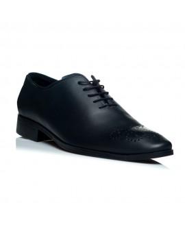 Pantofi piele negru barbati C18