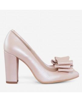 Pantofi Piele Nude Cu Fundita Boema D55 - orice culoare