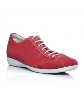 Pantofi piele sport barbati rosu