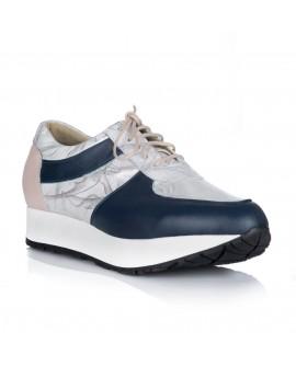 Pantofi Dama Sport Piele Bleumarin/Argintiu V24 - orice culoare