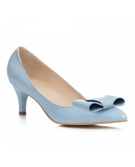 Pantofi Mini Stiletto Funda Piele Bleu C62- orice culoare