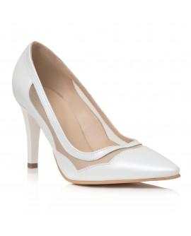 Pantofi Dama Piele Stiletto Relax Ivory C33 - orice culoare