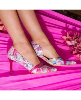 Pantofi Stiletto Piele Floral Alda C52 - orice culoare