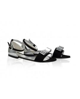 Sandale dama talpa joasa Chic cu Bareta - Piele naturala