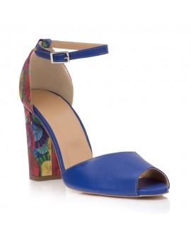 Sandale Piele Piele Albastru Toc Color Ipek T10  - orice culoare